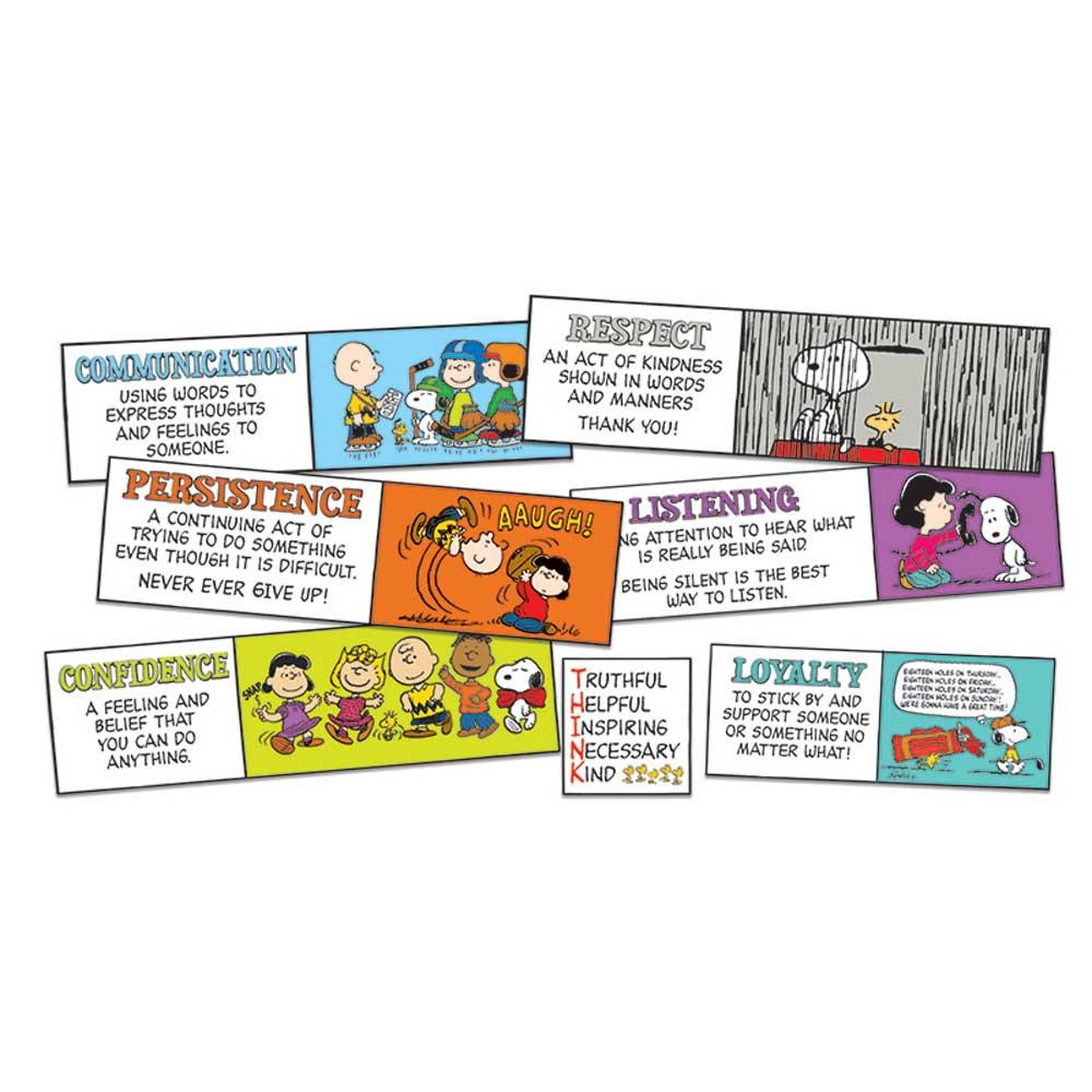 EU-847618 - Peanuts Character Building Mini Bulletin Board Set in Motivational