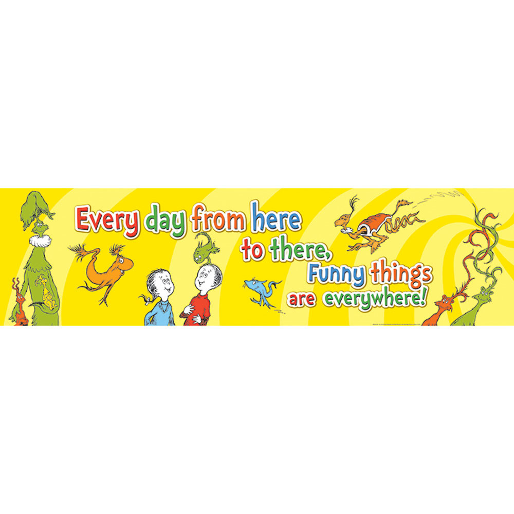 EU-849444 - Dr Seuss One Fish Two Fish Banner Horizontal in Banners