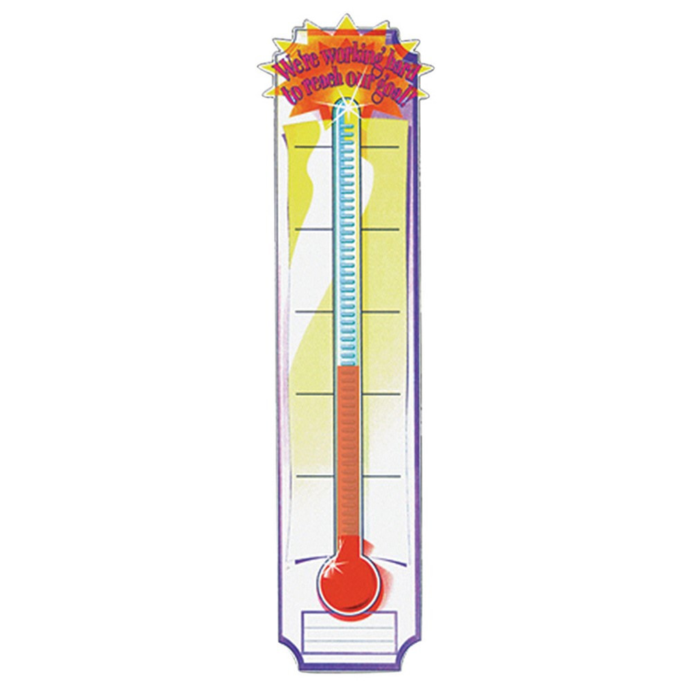 EU-84958 - Banner Goal Setting Thermometer 45 X 12 Vertical in Banners