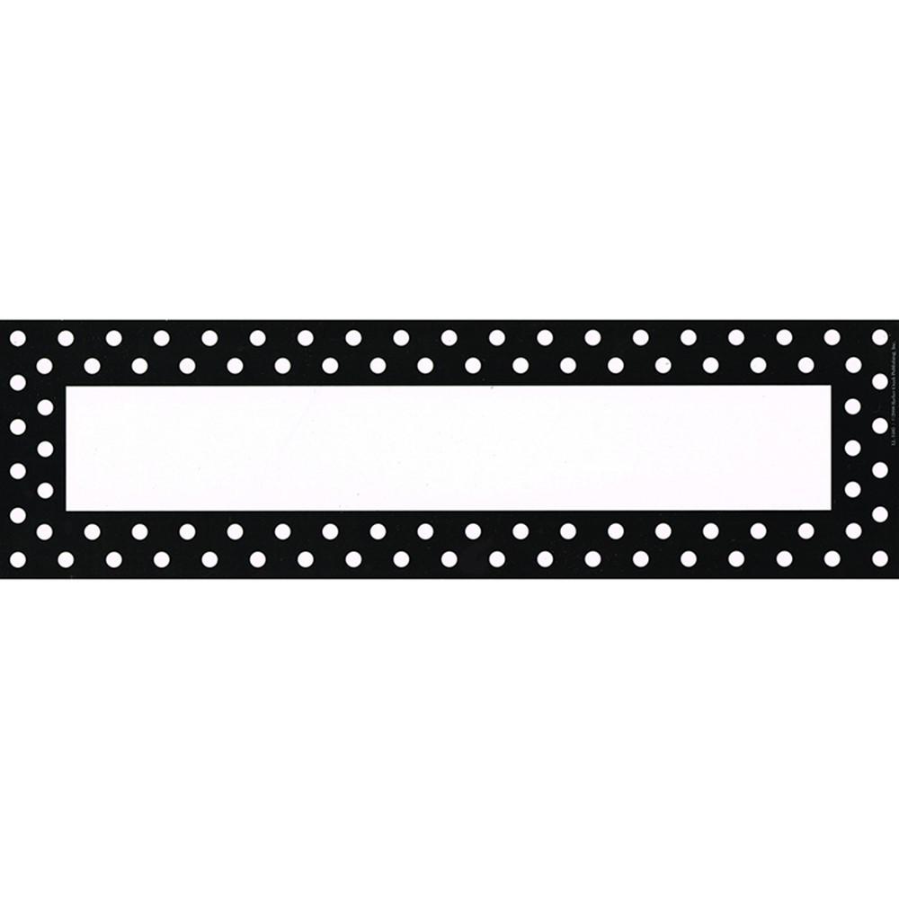 LAS1405 - Remember Me Desk Tags Black Dots in Name Plates