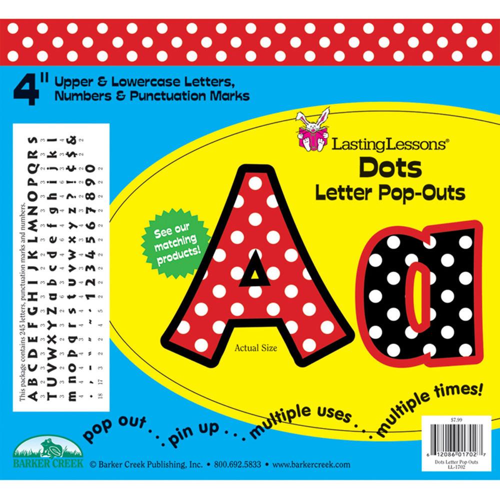 LAS1702 - Dots Letter Pop-Outs in Letters