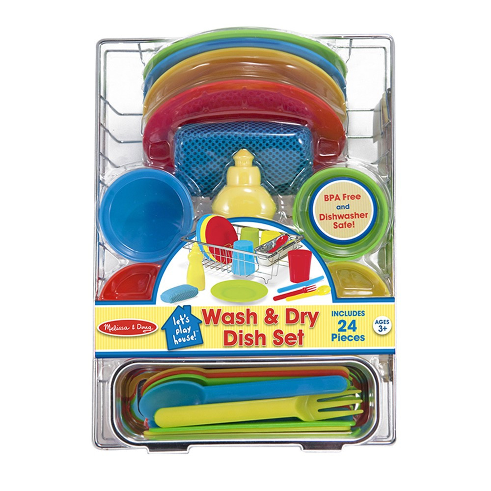 LCI4282 - Lets Play House Wash & Dry Dish Set in Homemaking