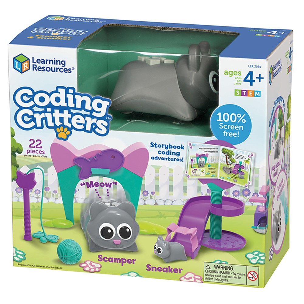 Coding Critters, Scamper & Sneaker - LER3081 | Learning Resources | Toys