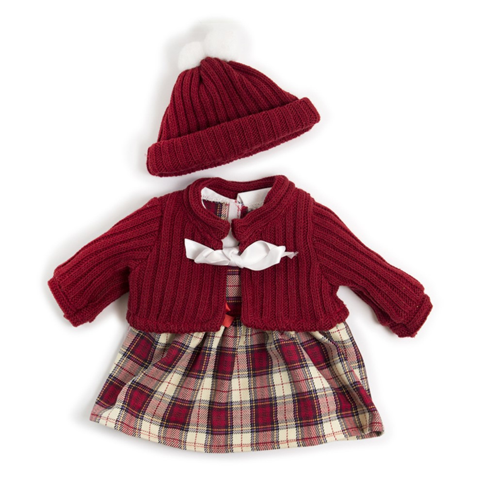 Doll Clothes, Cold Weather Dress Set - MLE31558   Miniland Educational Corporation   Pretend & Play
