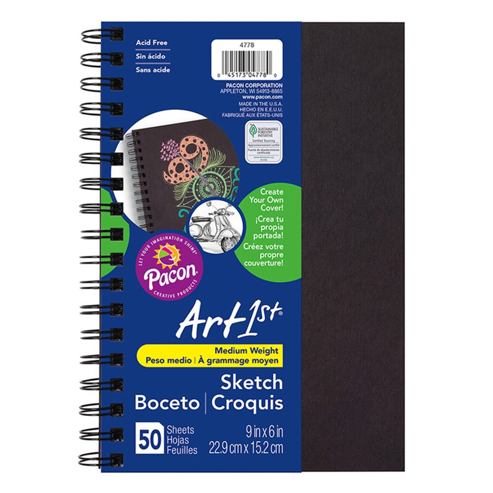 PAC4778 - Sketch Diary Chip Cover 9X6 Black in Sketch Pads