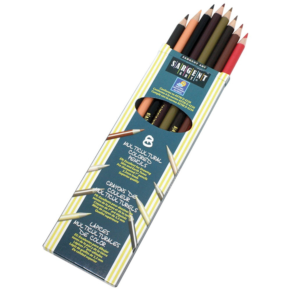 SAR227208 - 8Ct Sargent Colors Of My Friends Multicultural Pencil 7 In in Colored Pencils