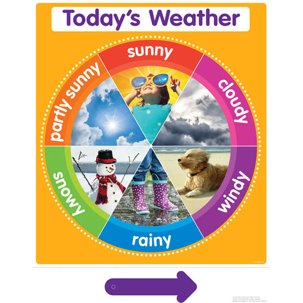 weather chart: Color your classroom todays weather chart sc 812804 scholastic