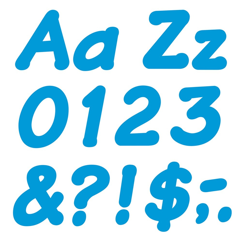 T-2702 - Ready Letters 4 Inch Italic Blue in Letters