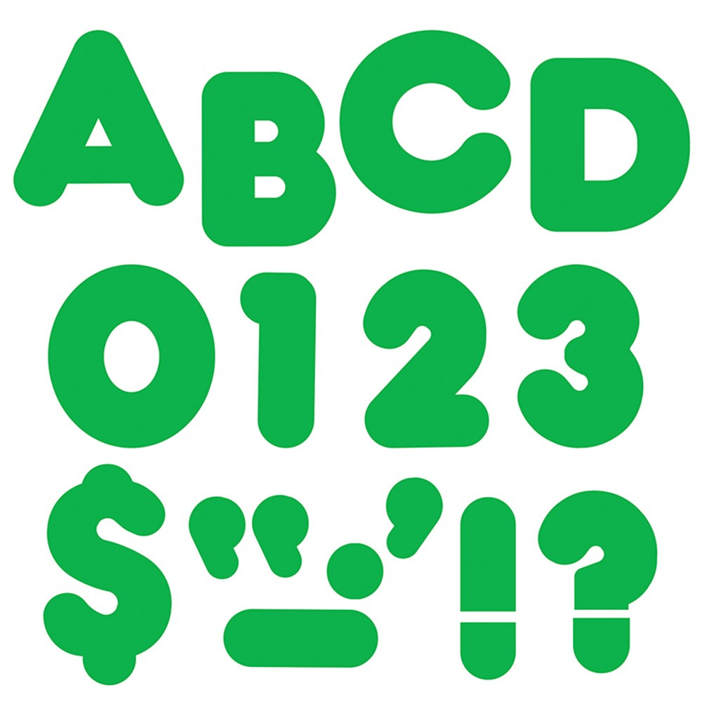 T-458 - Ready Letters 4In Casual Green Spark in Letters