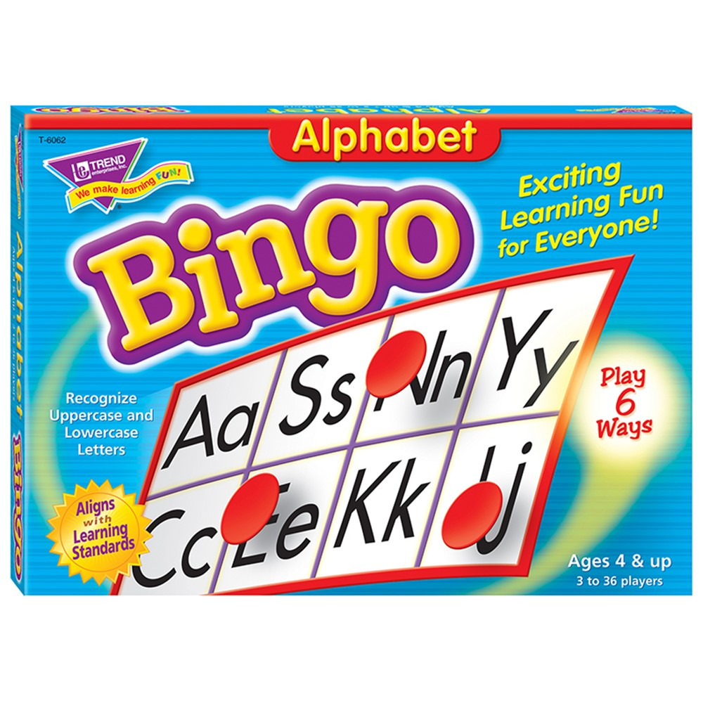 T-6062 - Bingo Alphabet Ages 4 & Up in Bingo