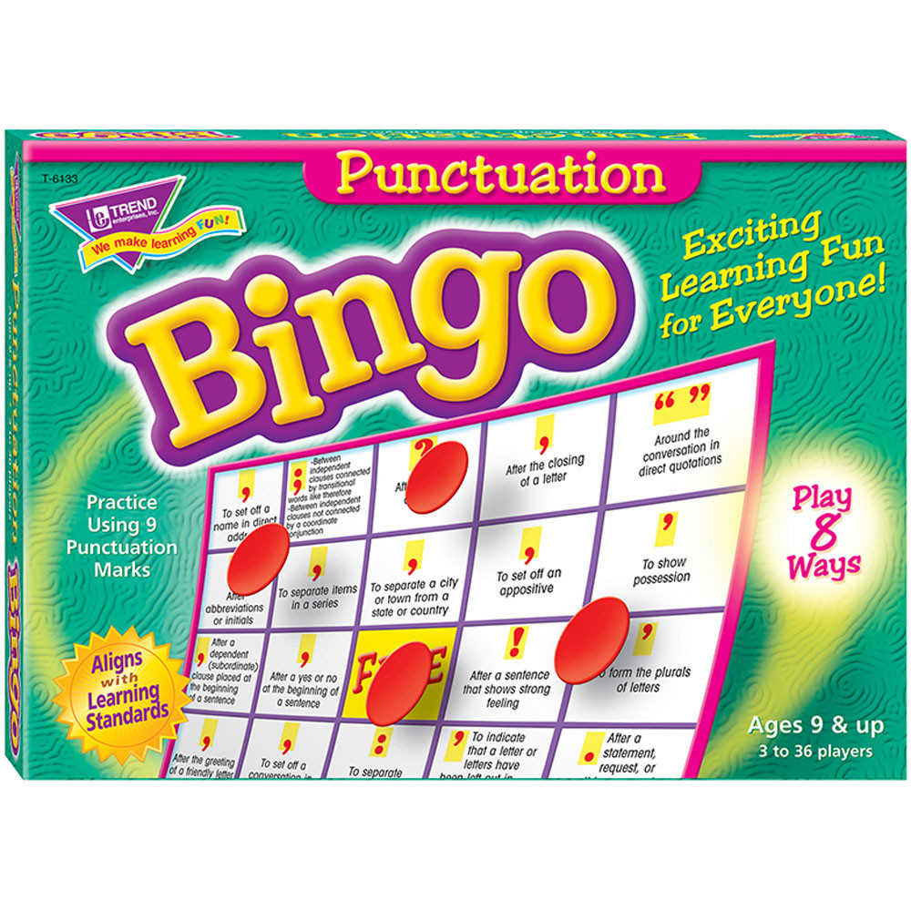 T-6133 - Bingo Punctuation Ages 7 & Up in Bingo