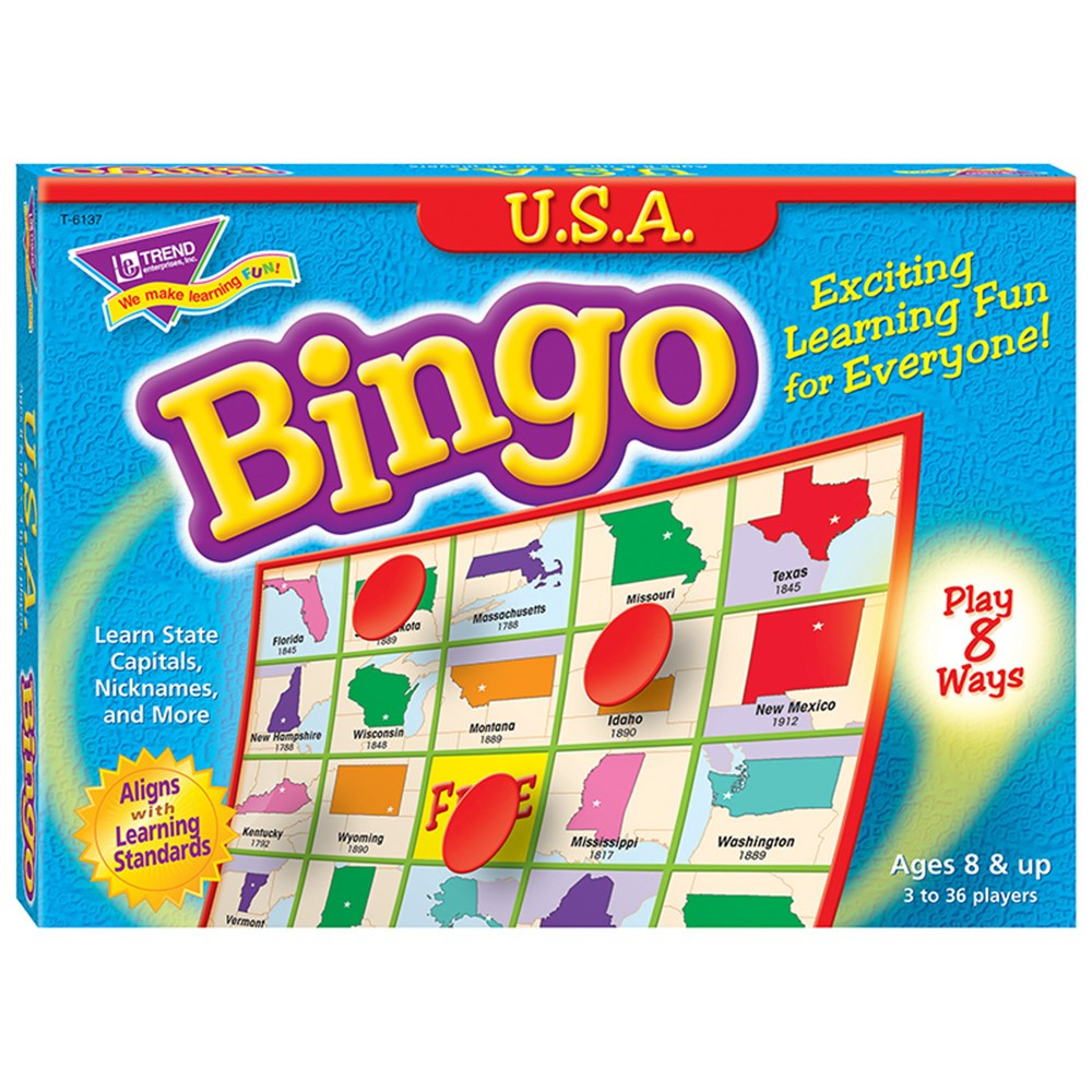 T-6137 - Bingo Usa Ages 8 & Up in Bingo