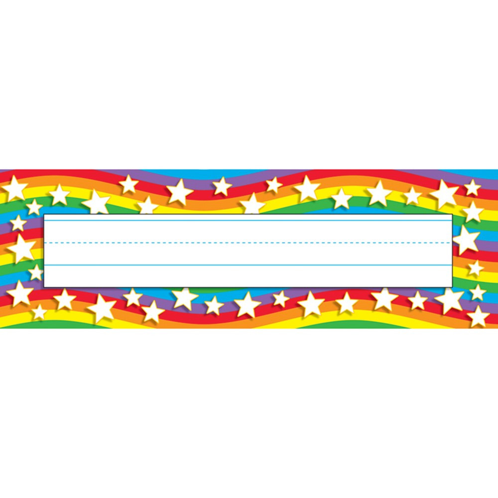T-69026 - Star Rainbow Desk Toppers Name Plates in Name Plates