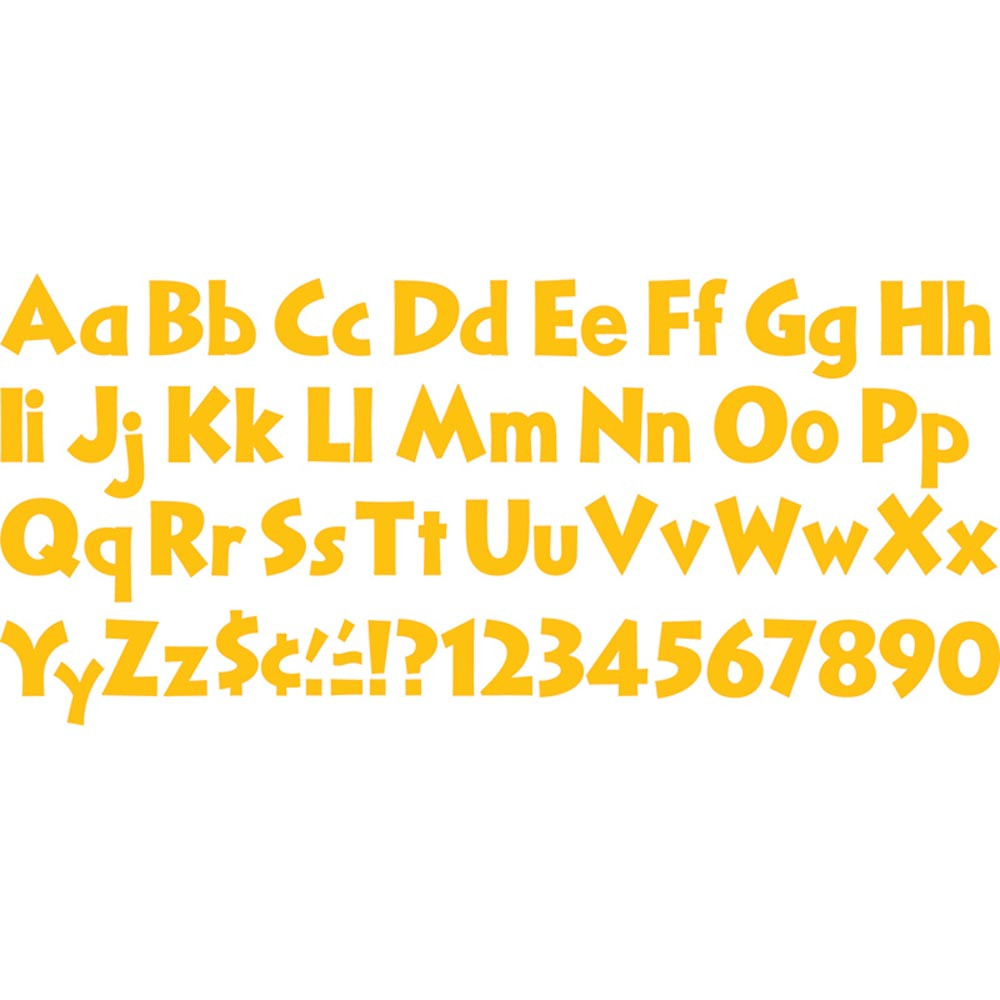 T-79295 - Ready Letters Gold 4 In in Letters