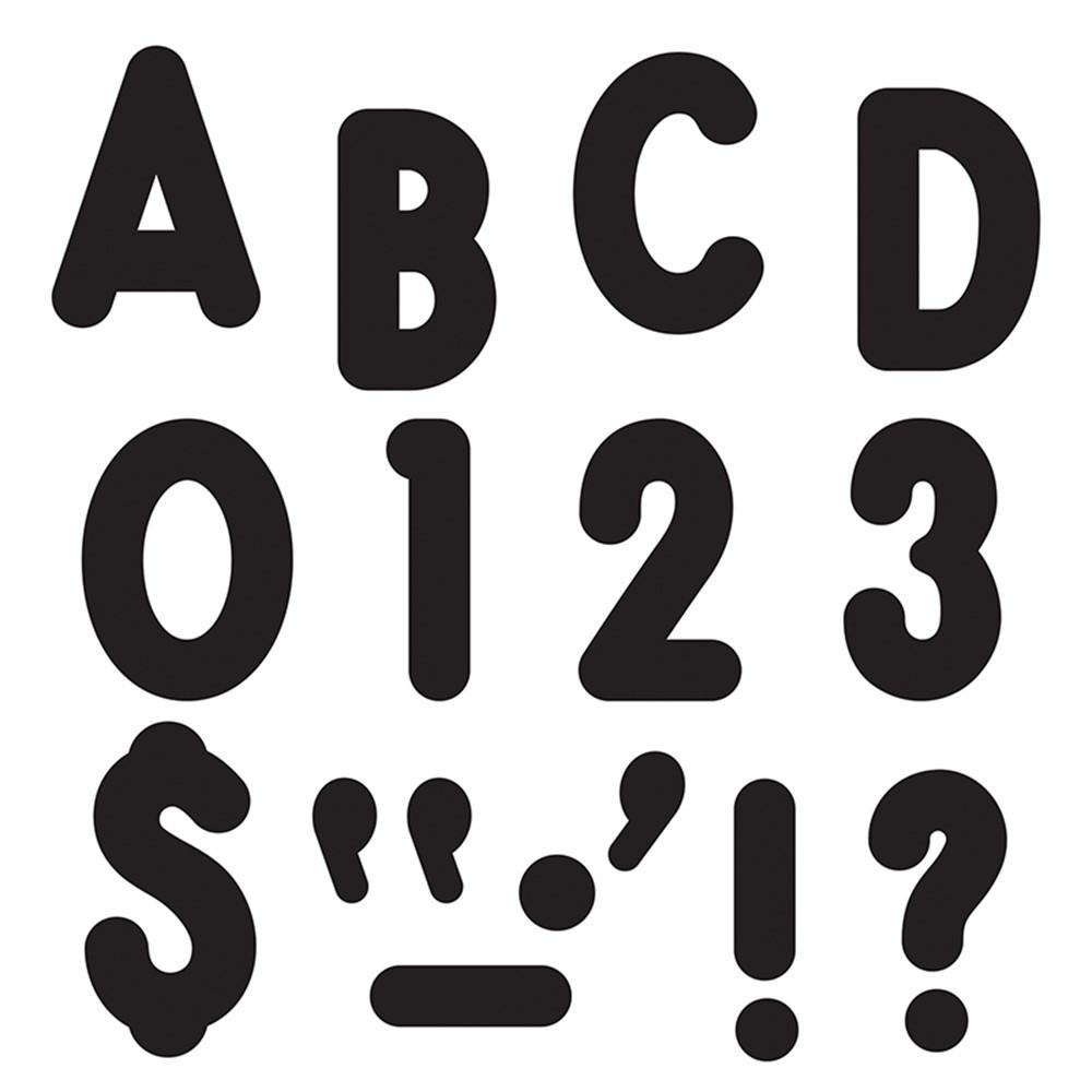 T-79411 - Black Ready Letters 7In Uppercase Billboard Font in Letters