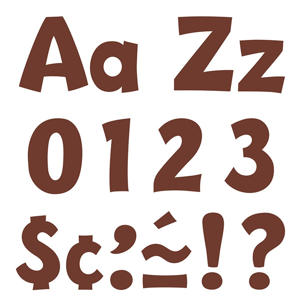 T-79745 - Chocolate 4In Playful Combo Ready Letters in Letters