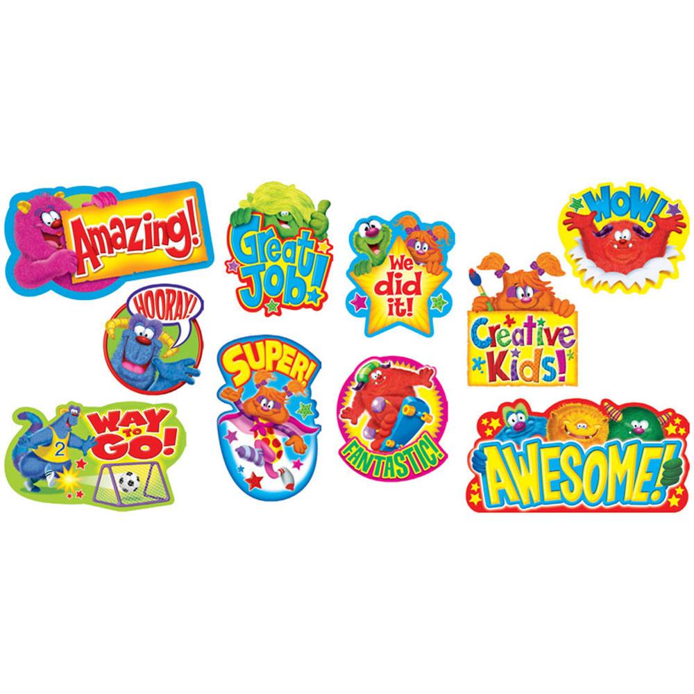 T-8736 - Furry Friends Wow Words Mini Bulletin Board Set in Classroom Theme