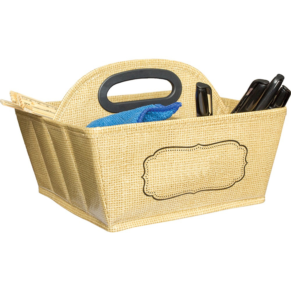 TCR20836 - Storage Caddy Burlap in Storage Containers