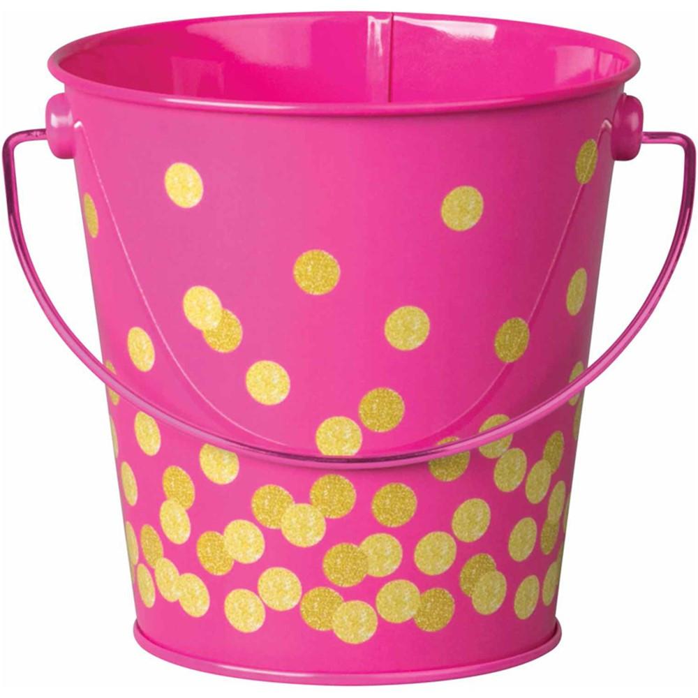 Pink Confetti Bucket - TCR20974   Teacher Created Resources   Desk Accessories