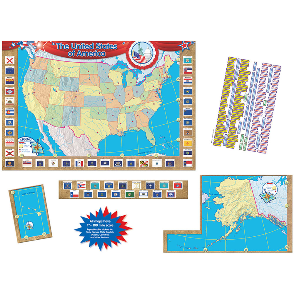 U.S. Map Bulletin Board - TCR4403   Teacher Created Resources