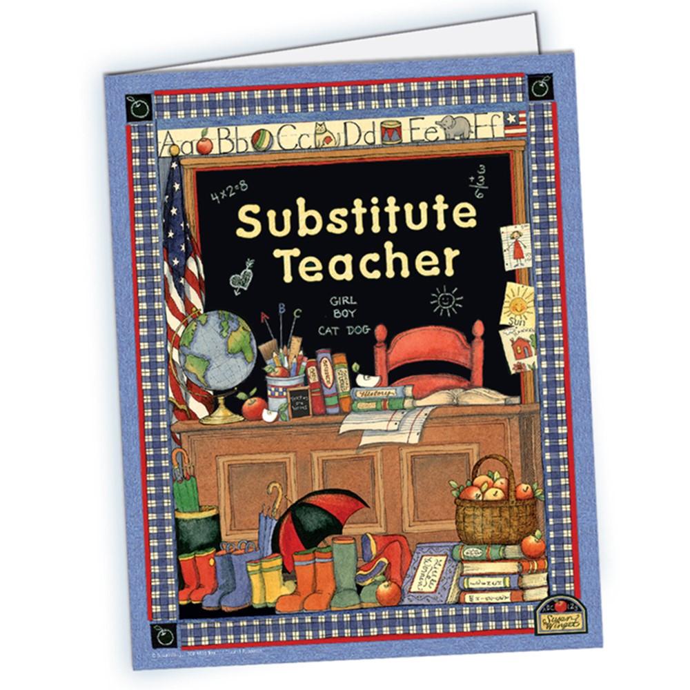 TCR4836 - Susan Winget Substitute Teacher Pocket Folder in Substitute Teachers