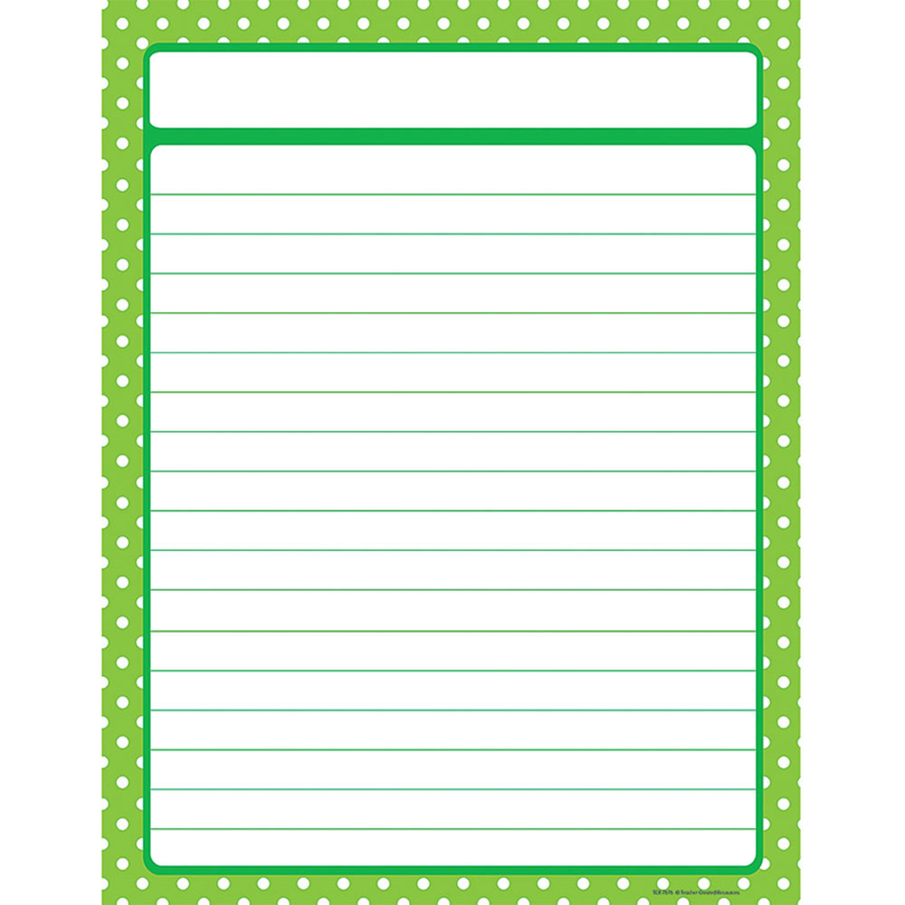TCR7676 - Lime Green Polka Dots Chart in Classroom Theme