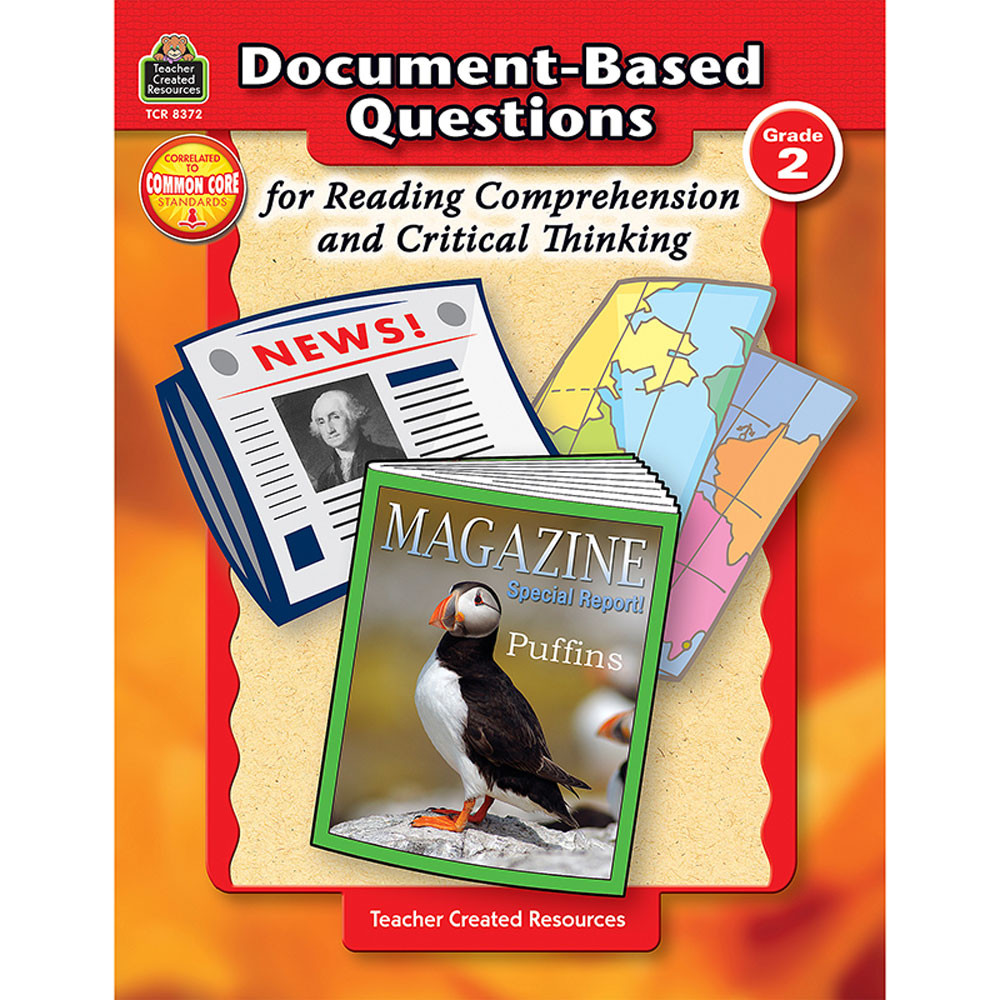 TCR8372 - Gr 2 Document-Based Questions For Read Comprehen & Critical Thinking in Books