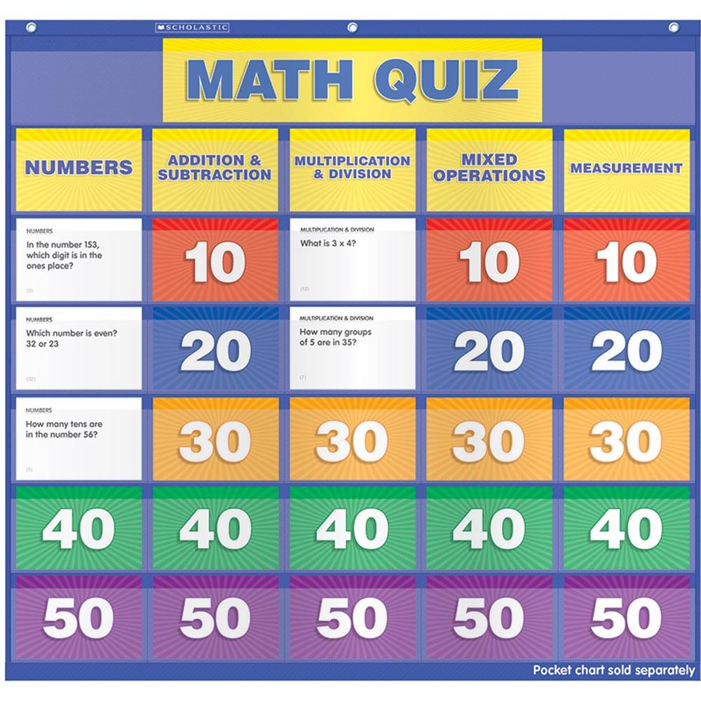 TF-5411 - Math Class Quiz Gr 2-4 Pocket Chart Add Ons in Pocket Charts