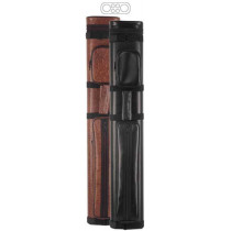 McDermott 2x4 Brown Vinyl Oval Hard Pool Cue Case