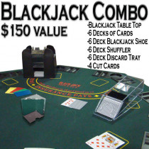6 Deck Deluxe Blackjack Dealer Combo Set