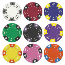 Ace King Suited 14 Gram Clay Composite Poker Chips