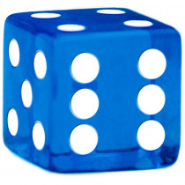19mm Rounded Dice, Blue