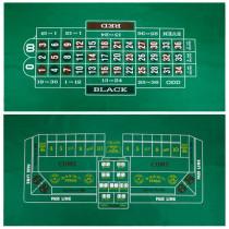 Craps and Roulette Casino Table Felt