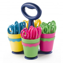 ACM14755 - Westcott Scissor Caddy With 24 Pointed Scissors in Scissor Rack