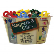 ADM3303503848 - Magnet Man Tub Of 40 in Clips