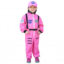 Get Real Gear Dress Up for Kids, NASA Astronaut Pink Jumpsuit, Size 4/6 - AEAASP46 | Aeromax Industries Inc | Pretend & Play