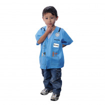 AEATDRB - My 1St Career Gear Blue Doctor Top One Size Fits Most Ages 3-6 in Role Play