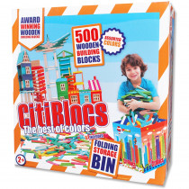 ALE0BCTBIN500C - Citiblocs Colored 500Pc Set With Storage Bin in Blocks & Construction Play
