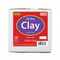 Air Dry Clay, Terra Cotta, 10 lbs. - AMA46301A | American Art Clay | Clay & Clay Tools