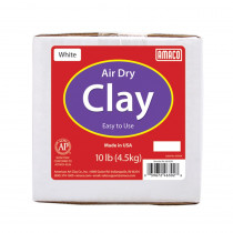 Air Dry Clay, White, 10 lbs. - AMA46302B | American Art Clay | Clay & Clay Tools