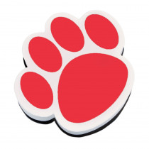 ASH10003 - Magnetic Whiteboard Eraser Red Paw in Whiteboard Accessories