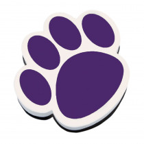 ASH10005 - Magnetic Whiteboard Eraser Purple Paw in Whiteboard Accessories