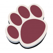 ASH10012 - Magnetic Whiteboard Eraser Maroon Paw in Whiteboard Accessories