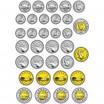 ASH10060 - Math Diecut Magnets Canadian Coins in Money