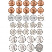 ASH10067 - Math Die Cut Magnets U.S. Coins in Money