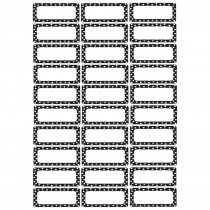 ASH10080 - Die Cut Magnets B/W Dots in Name Plates
