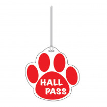 ASH10353 - Red Paw Hall Pass 4 X 4 in Hall Passes