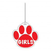 ASH10373 - Red Paw Hall Pass Girls 4 X 4 in Hall Passes
