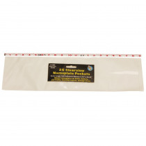 ASH10404 - 25Pk Clr View Self-Adhesive Pockets Extra Large Name Plate 5.75 X 20 in Sheet Protectors