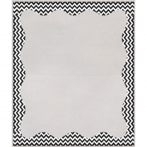 ASH10411 - Blk Chevron Border 3 1/2 X 5 Clear View Self Adhesive Library Pockets in Library Cards